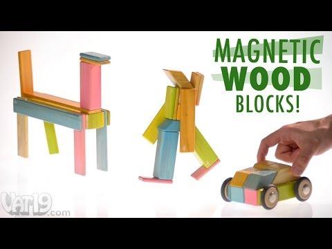 Magnetic Wood Blocks by Tegu