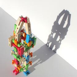 bloques conectables luco 65 piezas